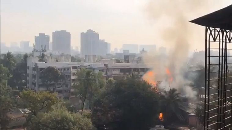 Mumbai: Fire breaks out at cylinder godown in Versova, 4 injured