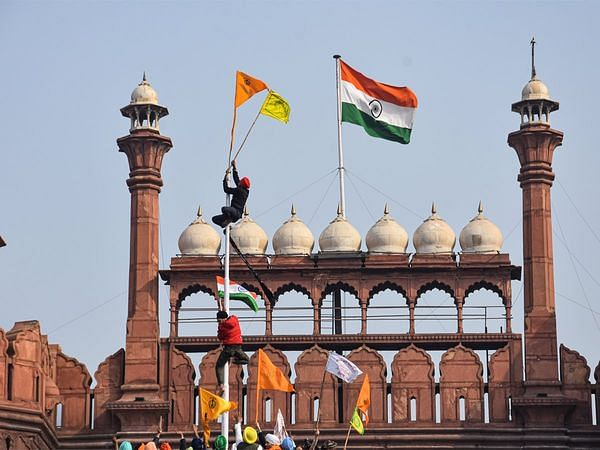 Republic Day violence: Delhi Police arrests man who climbed atop Red Fort with sword