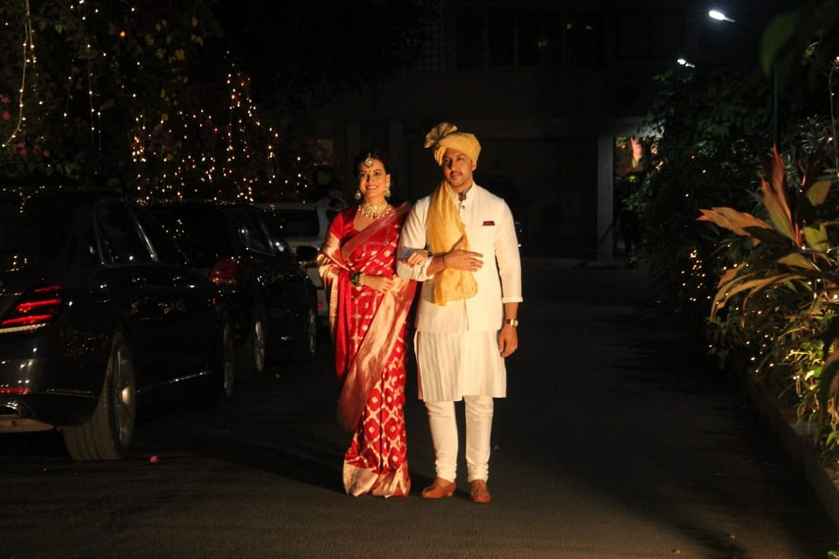 In Pics: Dia Mirza ties the knot with Vaibhav Rekhi at her Bandra residence
