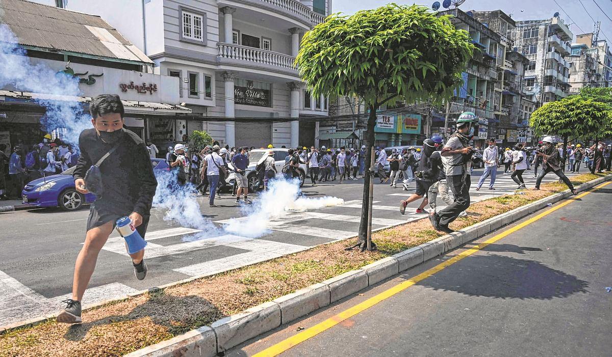 18 killed as Myanmar police intensify efforts to break up protests