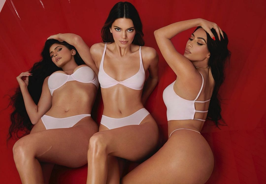 In Pics: Kim Kardashian, Kendall, and Kylie Jenner pose in racy red lingerie ahead of Valentine's Day