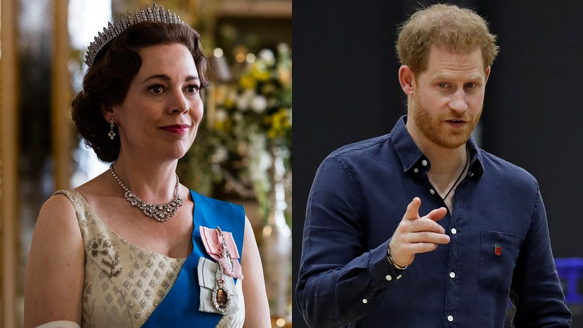 Prince Harry is 'way more comfortable' with 'The Crown' than what's written by 'toxic' British press