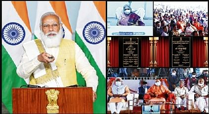 It is false propaganda; laws benefit small farmers: Prime Minister Narendra Modi