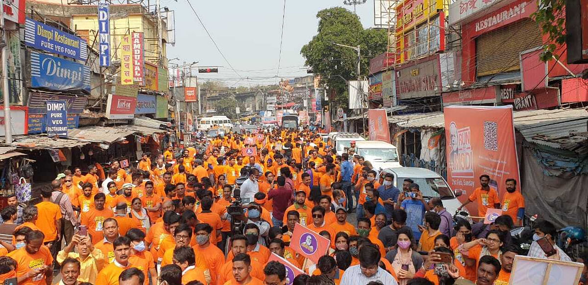 West Bengal: Jai Shri Ram echoed in North Kolkata as team NaMo campaigned for PM Modi ahead of election