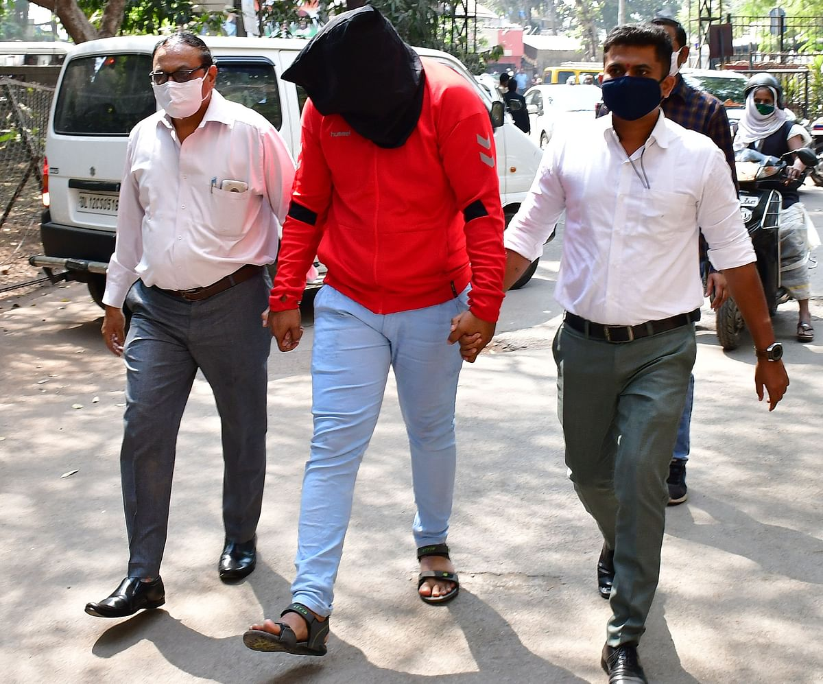 Mumbai Police arrested producer-director Yasmin Beg Khan in connection with an alleged porn film racket case has been produced at Killa Court, in Mumbai, Wednesday, Feb. 10, 2021.  (Photo by Bhushan Koyande)