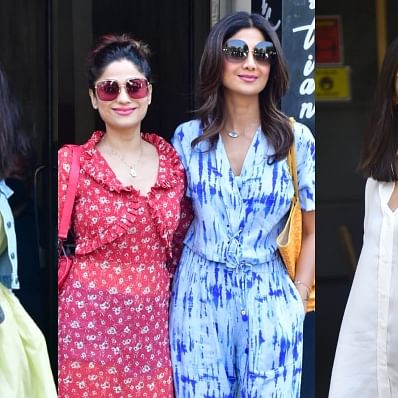 In Pics: Shilpa Shetty steps out with family; Malaika Arora and Arjun Kpaoor arrive at Kareena's Bandra residence