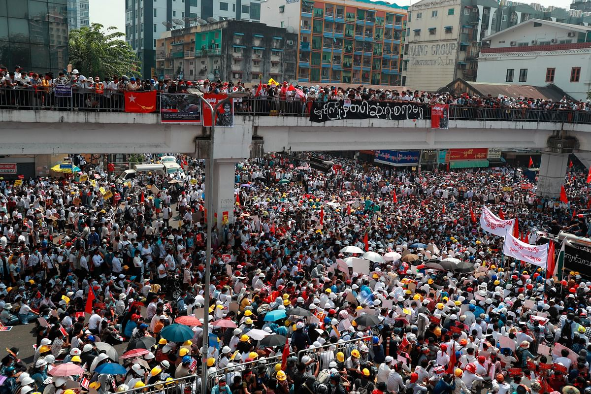 Myanmar erupts in one of the largest protests in its history