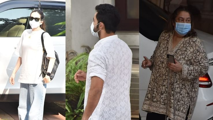 In Pics: Karisma Kapoor, Armaan Jain and other family members attend Rajiv Kapoor's Chautha