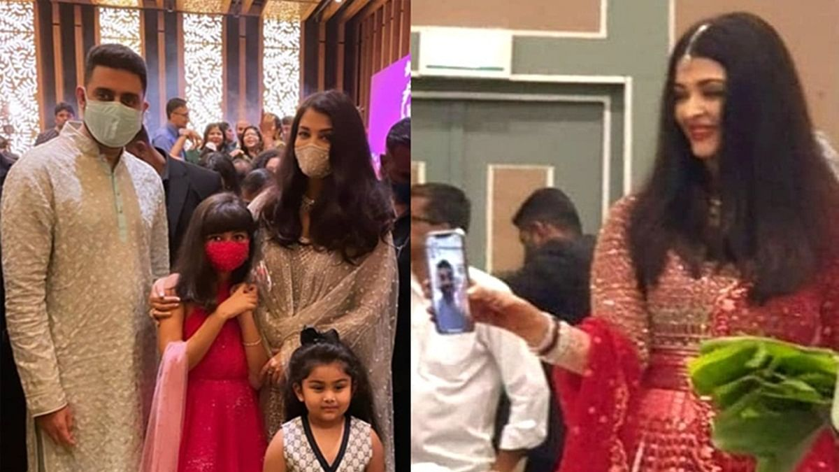 Unseen Pics: Aishwarya, Abhishek, and Aaradhya Bachchan look regal as they attend a family wedding