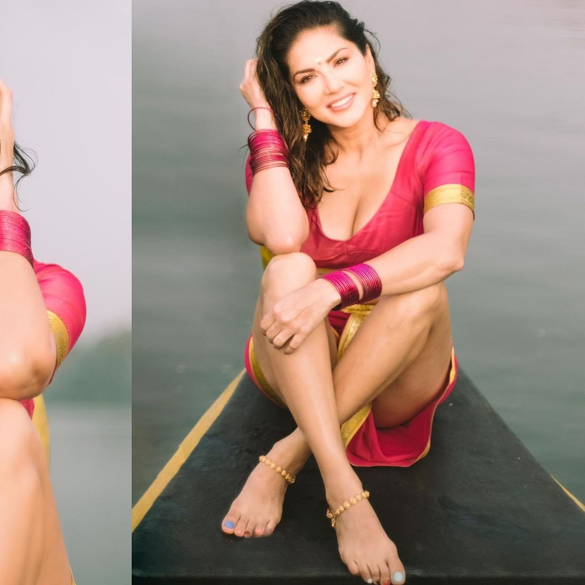 Sunny Leone sets the internet ablaze with her traditional photoshoot in Kerala