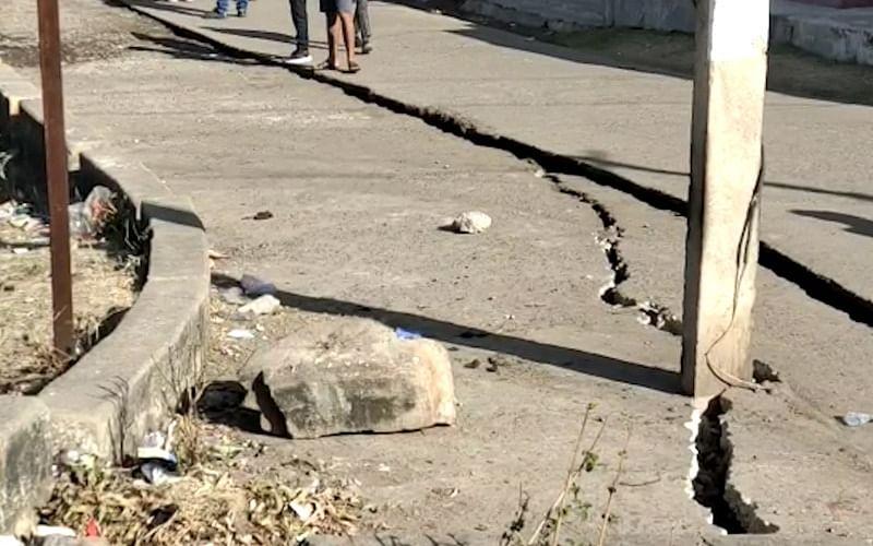 Chhattisgarh: Major ground fissure appears in SECL Chirmiri, administration blames public