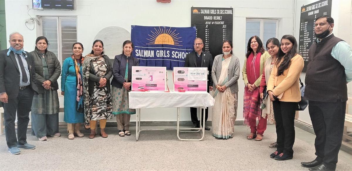 Power System Operation Corporation Ltd provides sanitary napkin vending machines to Girls school under Swachhta action plan