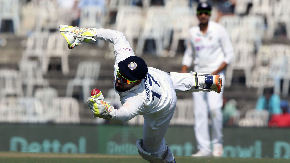 Rishab Pant contributed both with the bat and as a keeper during the second Test against England in Chennai