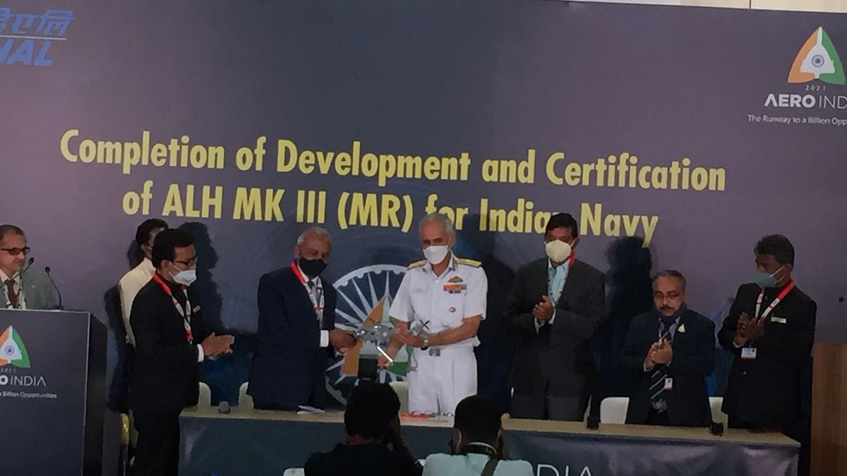 HAL hands over ALHs to the Indian Navy and Indian Coast Guard