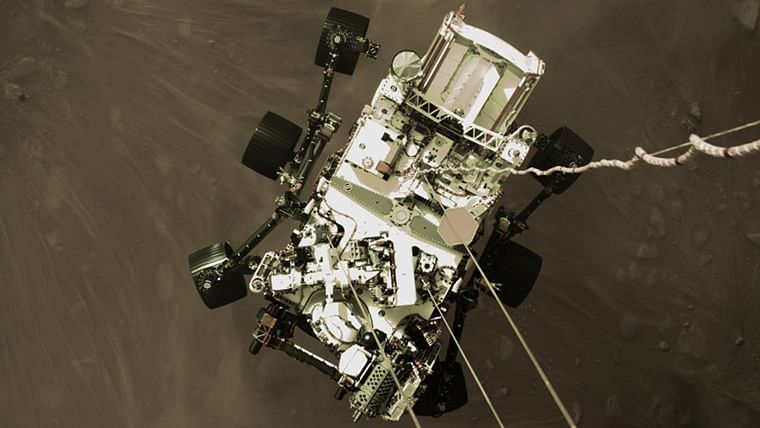 NASA Perseverance rover safely touching down on Red Planet
