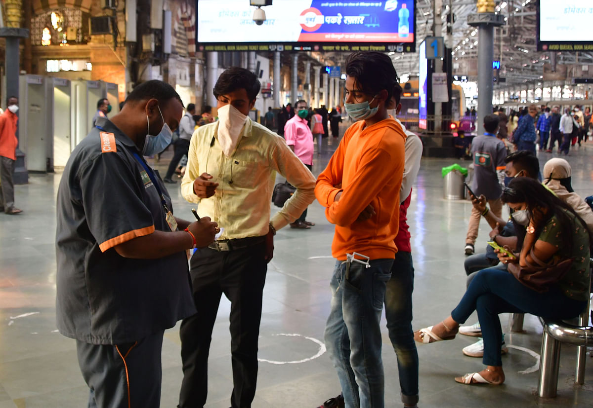 Coronavirus in Mumbai: 350 fined for not wearing masks in local trains