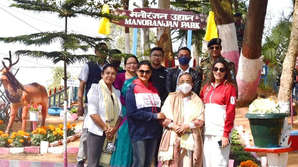Park built by CRPF in memory of Shaheed Manoranjan Singh, inaugurated by his mother