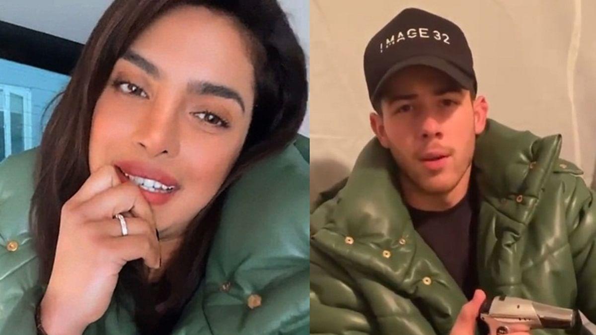 Priyanka Chopra borrows husband Nick Jonas' green jacket to step out during Instagram LIVE