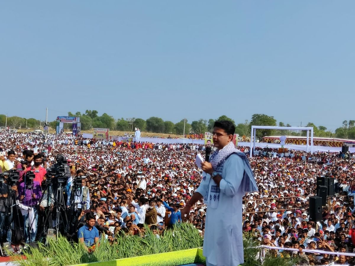Rajasthan: Sachin Pilot holds Kisan Mahapanchayat in Jaipur, says 'Congress is with farmers in fight against Centre'