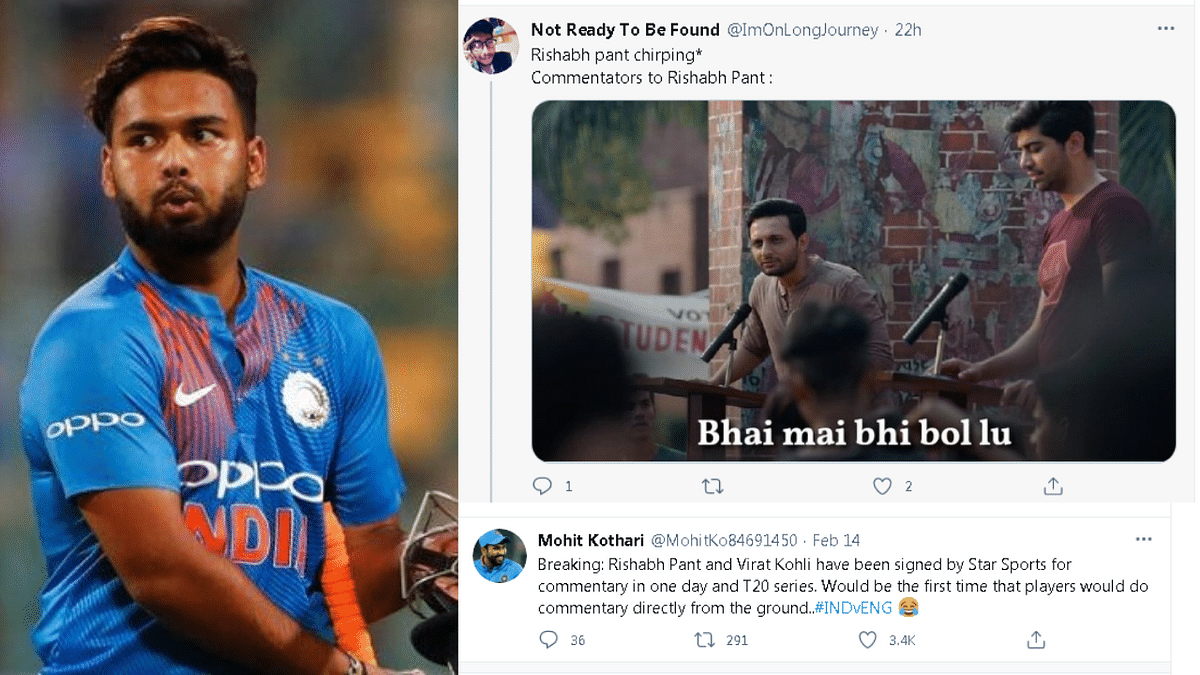 Rishabh Pant's hilarious comments are winning hearts and inspiring memes on Twitter