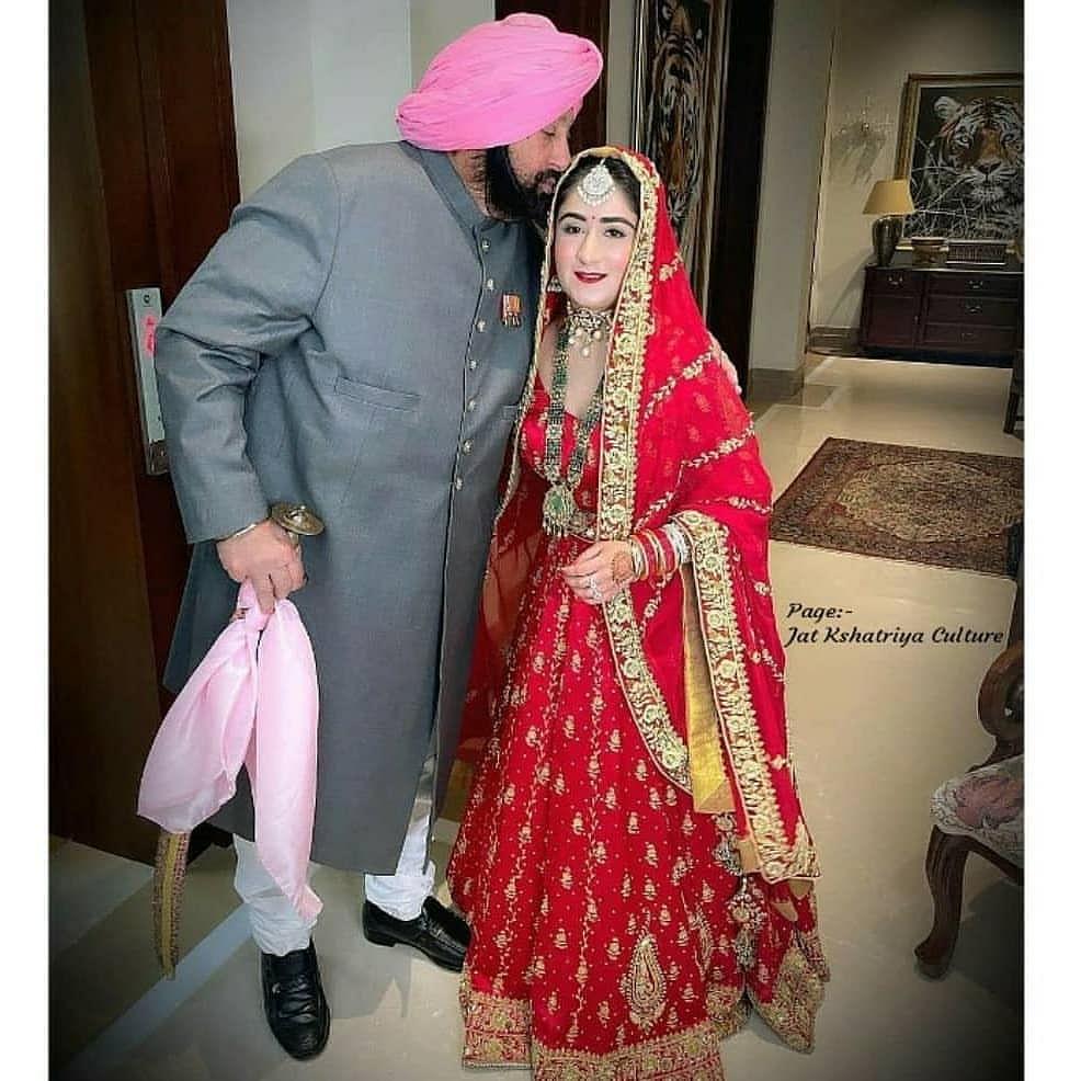Captain Amarinder Singh with granddaughter Seherinder Kaur