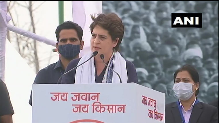 Even if it takes 100 days or 100 months, Congress will continue to fight against farm laws: Priyanka Gandhi Vadra at Kisan Mahapanchayat
