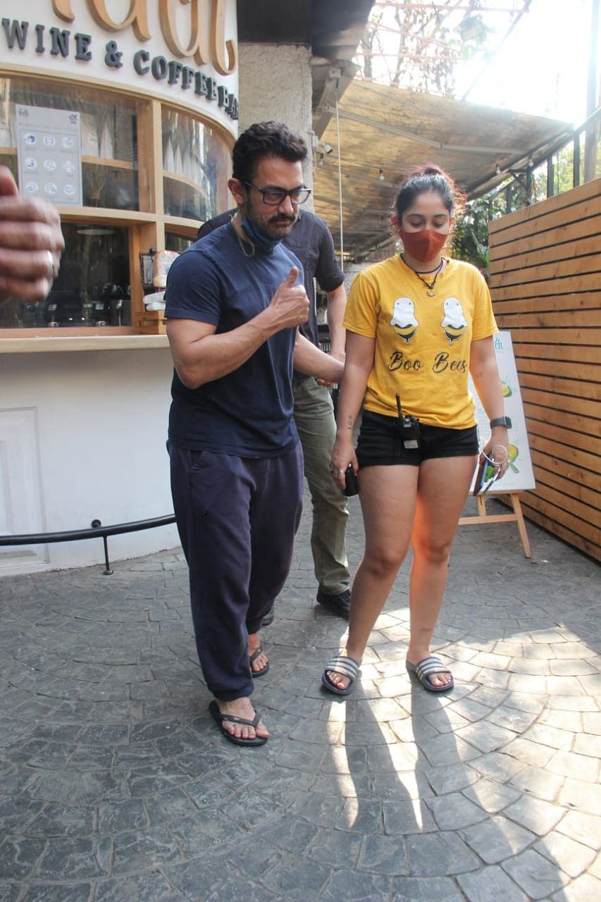 In Pics: Aamir Khan steps out with daughter Ira, son Junaid in Mumbai; netizens say 'father looks younger than kids'