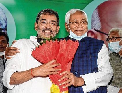 Kushwaha, party back in JDU fold