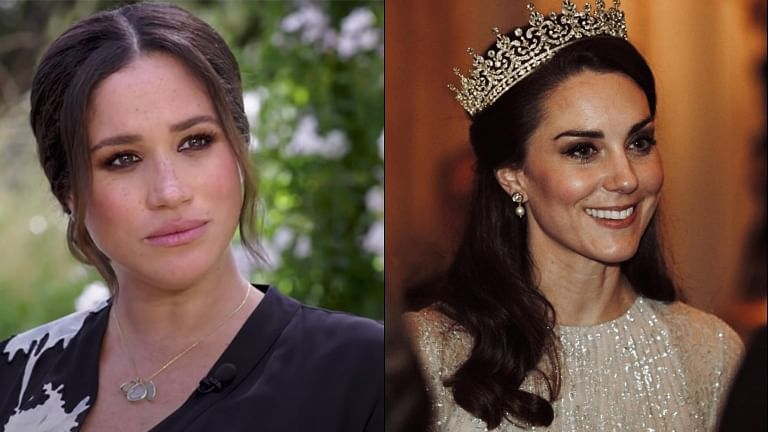 Meghan Markle says Kate Middleton made her cry, not the other way round
