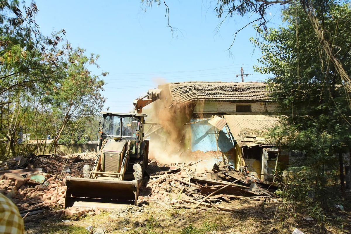 Demolished of construction underway