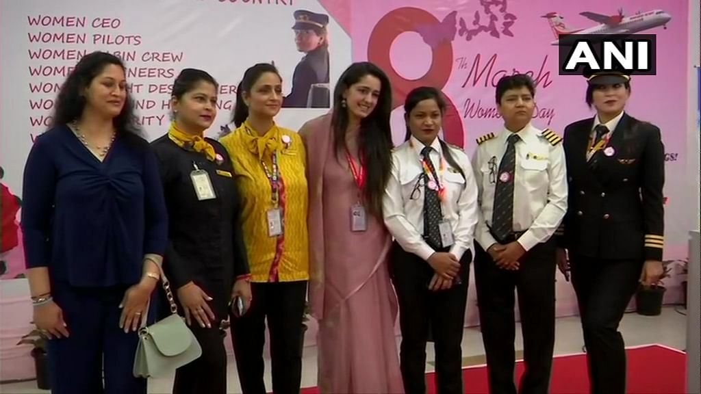 All-women crew fly maiden Delhi-Bareilly flight on International Women's Day