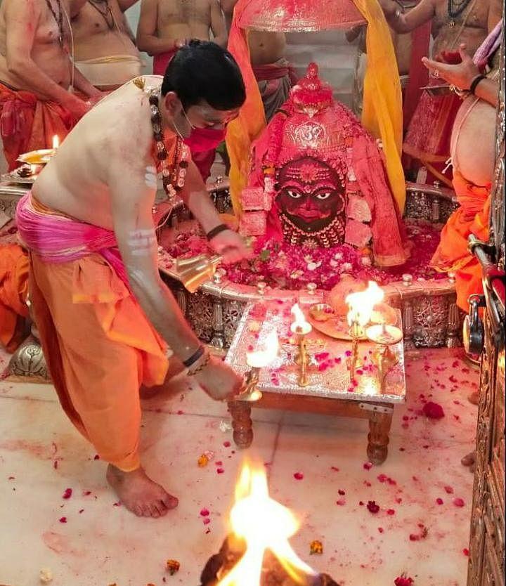 Ujjain: Prayers offered at Mahakal Temple on Holi