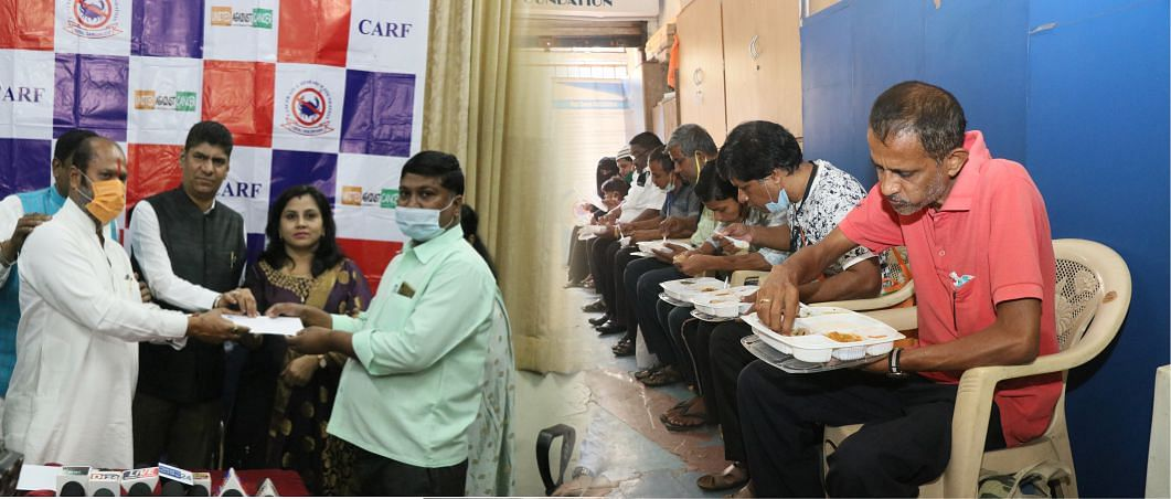 Cancer Aid & Research Foundation  holds cheque distribution program at Byculla office