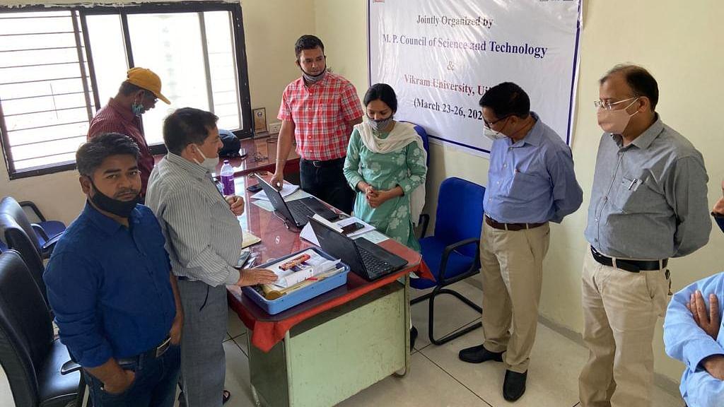 Vikram University vice-chancellor Prof Akhilesh Kumar Pandey oversees MPYSC, 2020