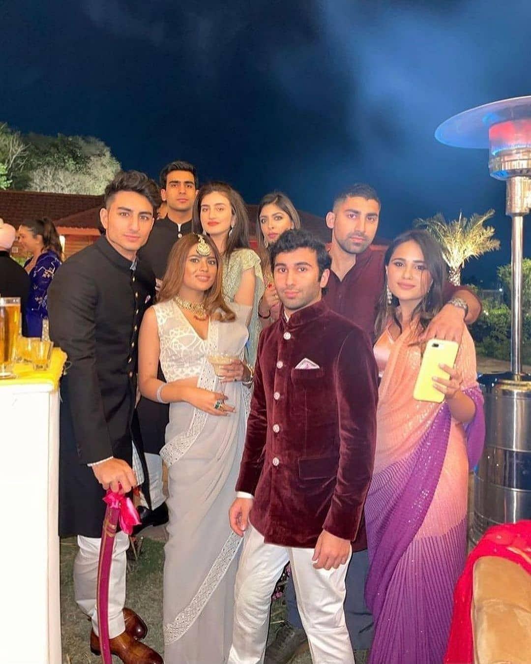 In Pics: Ibrahim Ali Khan makes a rare appearance at Punjab CM Captain Amarinder Singh's granddaughter's wedding