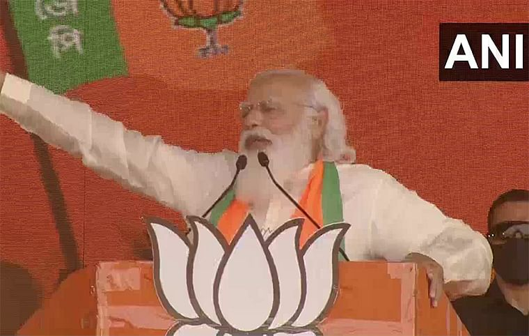 PM Narendra Modi counters TMC's remarks, says Bengali is in DNA of BJP