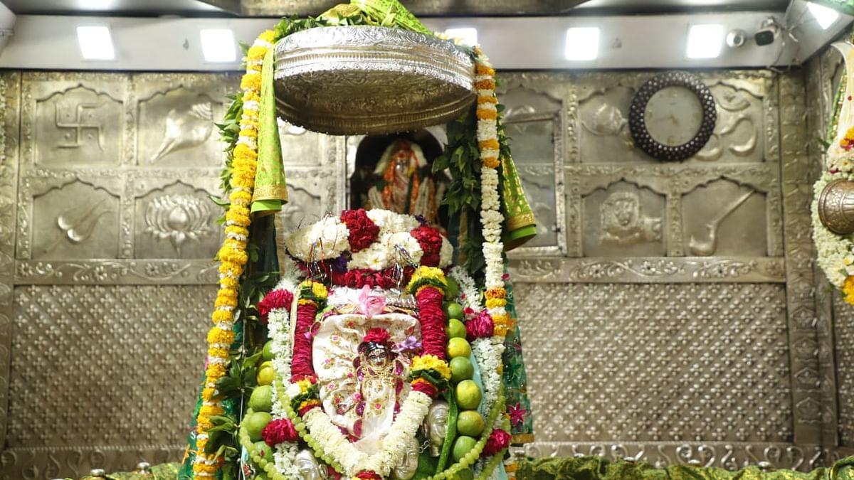 MAHAKAL SHIV TANDAV: On the eighth day of Shivnavratri festival at the Mahakaleshwar Temple, the Mahakal Jyotirlingam was decked up in Mahakal Shiv Tandav form in Ujjain on Wednesday evening.