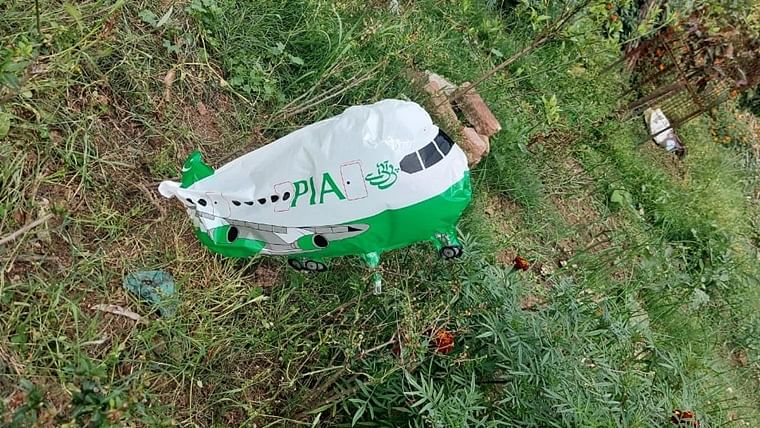 Another 'PIA' written aeroplane-shaped balloon found in Jammu and Kashmir