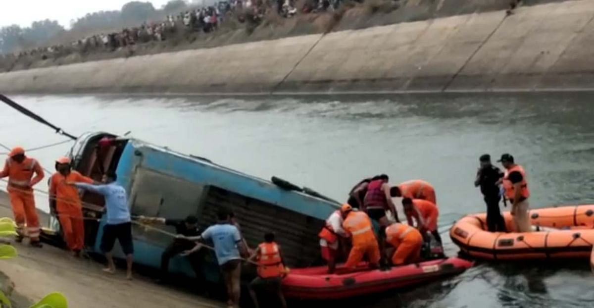 The horrific bus accident at Sidhi some time in the middle of February this year.