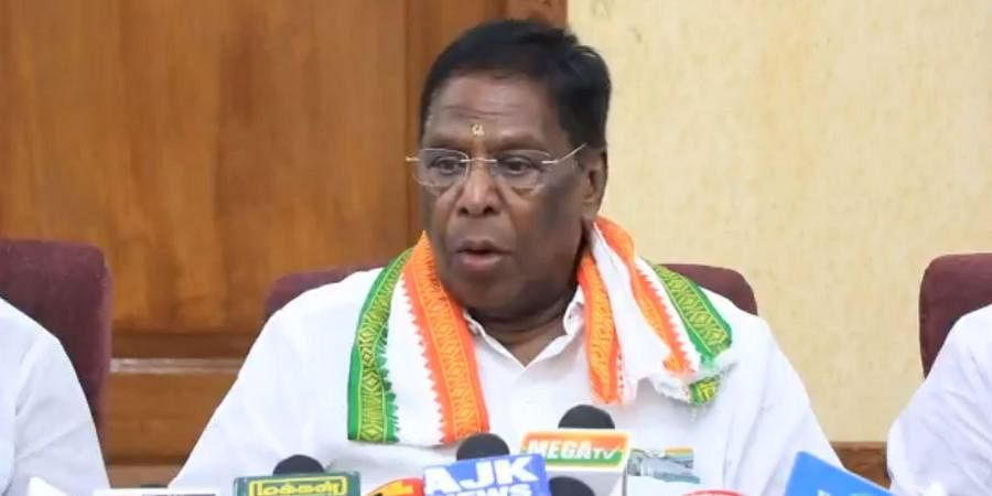 Puducherry: Narayanasamy out of contest, BJP fields Congress rebels