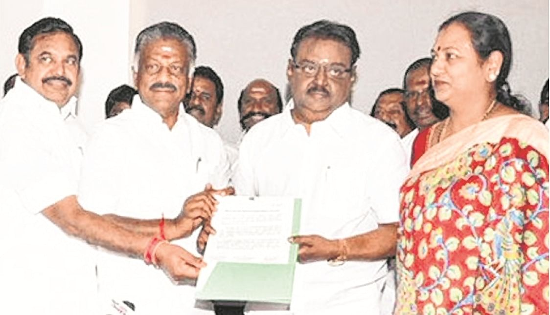 Tamil Nadu: Fissures in AIADMK, DMDK over seat-sharing