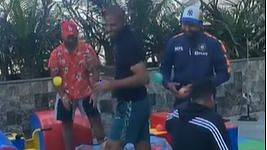 Watch: Shikhar Dhawan posts video of Rishabh Pant, Rohit Sharma, Kuldeep Yadav having fun in Kids Zone