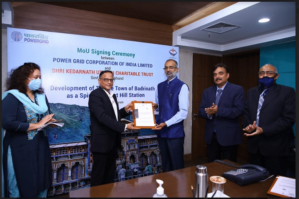 POWERGRID inks MOU for development of Badrinath as spiritual smart hill town