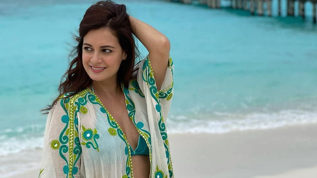 Bikini-clad Dia Mirza shares stunning pictures clicked by husband Vaibhav Rekhi at their Maldives vacay