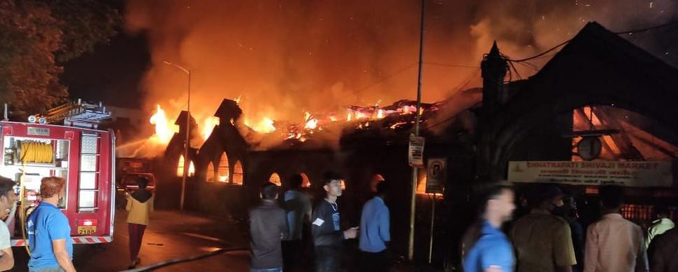 Pune: Fire at Shivaji Market in Cantonment area, 25 shops gutted - see photos