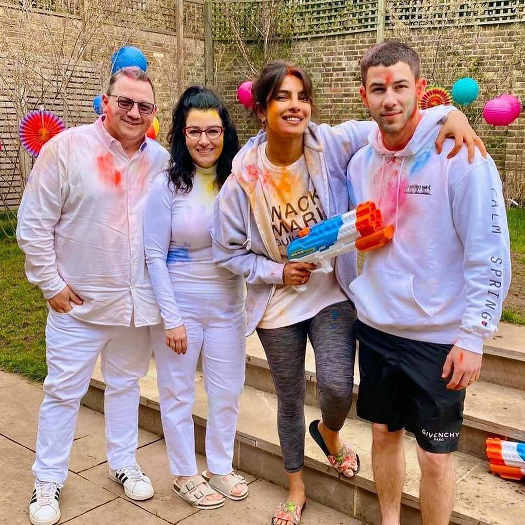 In Pics: Priyanka Chopra celebrates Holi 2021 with Nick Jonas and his parents in London