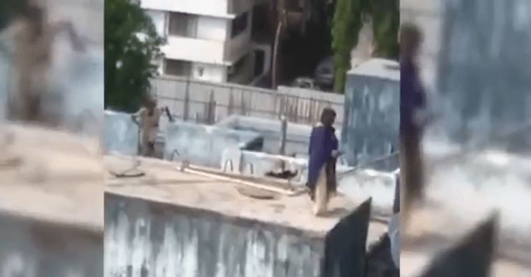 Watch video: Mumbai cop's timely action saves woman trying to jump off from building terrace