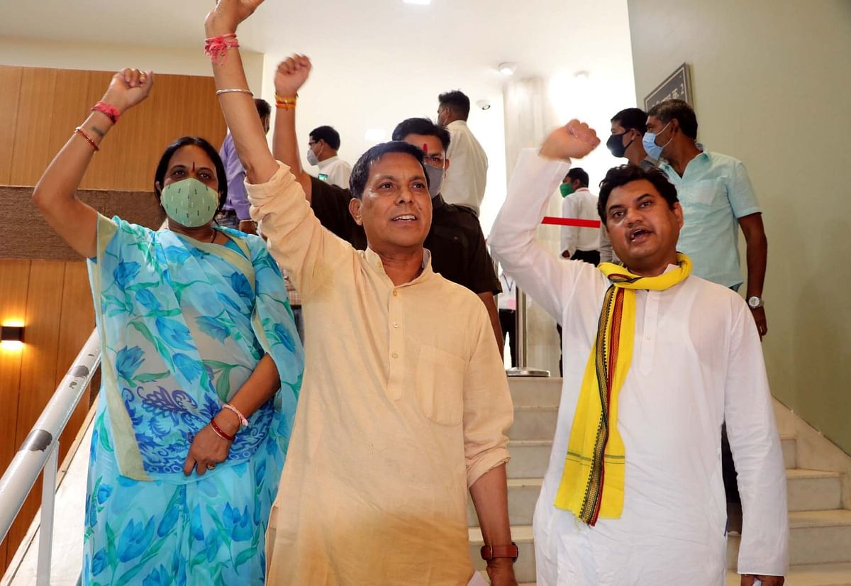MLAs stage walk –out in Vidhan Sabha on Tuesday.