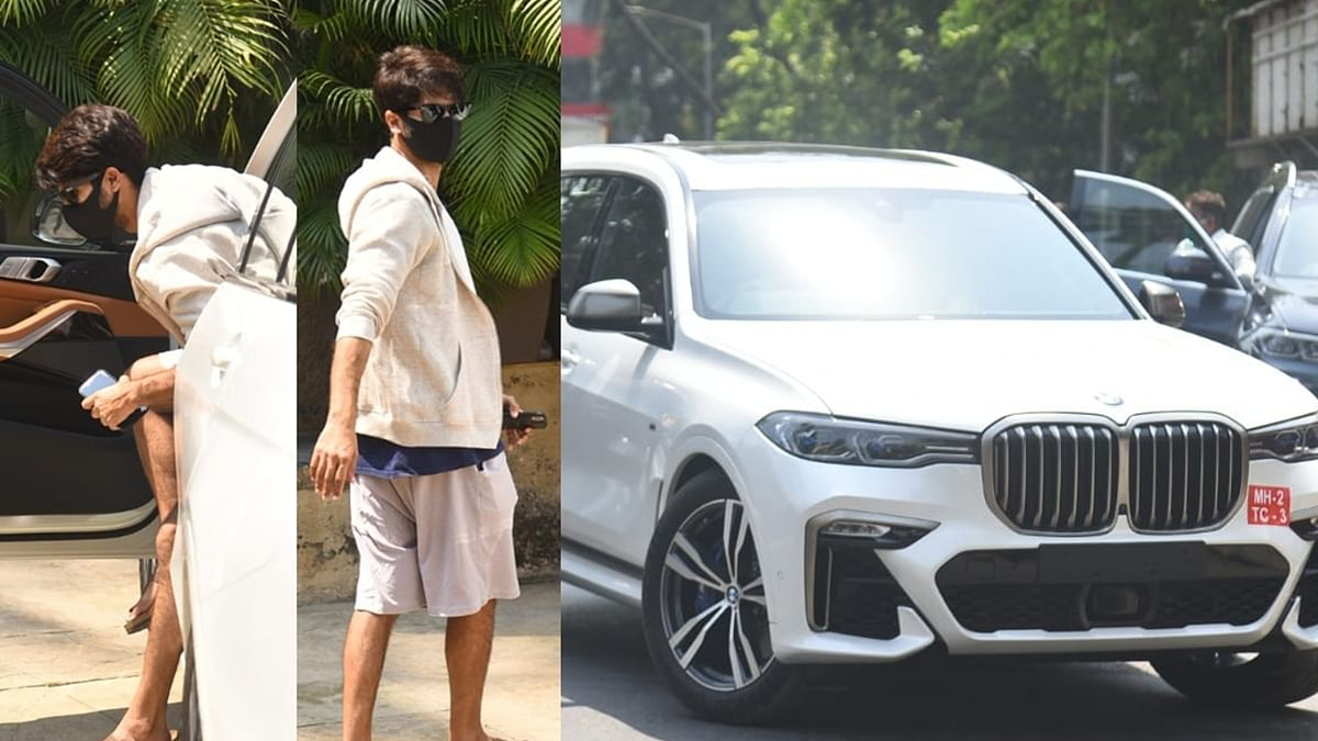 Watch: Shahid Kapoor test drives BMW SUV worth nearly Rs 1.6 crore!