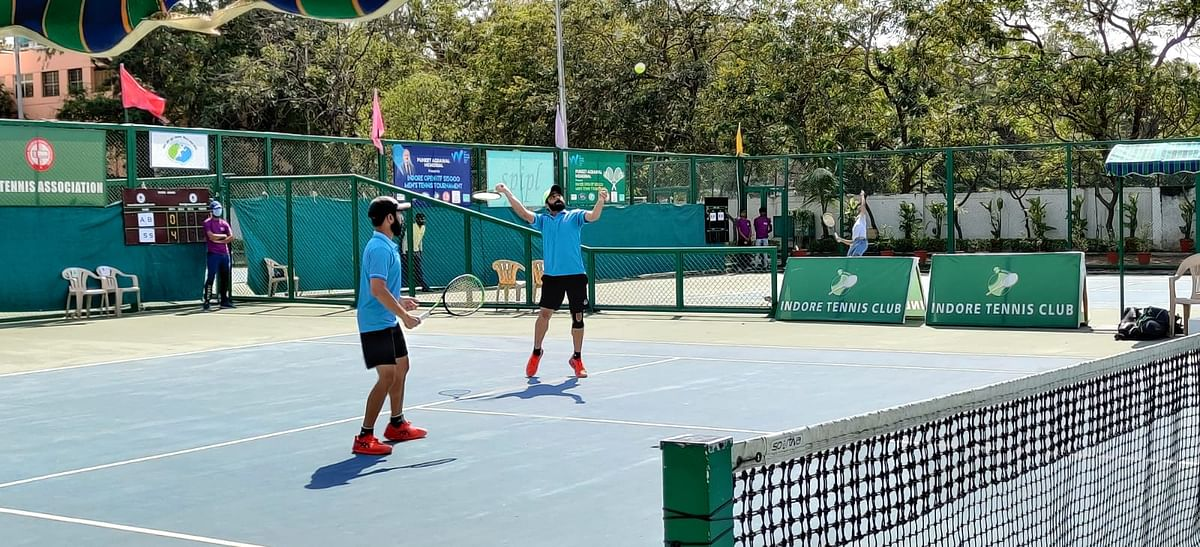Tennis match in Indore on Tuesday